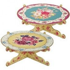 TRULY SCRUMPTIOUS SINGLE TIER PRETTY PARTY VINTAGE STYLE REVERSIBLE CAKE PLATTER £5.95