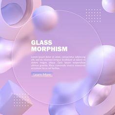 Abstract pastel banner with blurred glas... | Premium Psd #Freepik #psd #abstract #templates #3d #gradient Cv Design Template, App Ui Design, Interface Design, Graphic Design Lessons, Graphic Design Typography, Web Layout, Layout Design, Minimal Web Design, App Design Inspiration