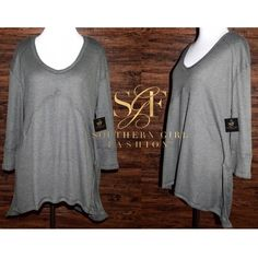 Southern Girl Fashion Tops - RIBBED THERMAL V Neck Pullover Layering Tunic Top