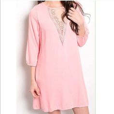 Sale - Tunic dress 2 smalls left❗️3/4 sleeve lace trim & loose fit dress. Small (2/4) - Price is firm unless bundled. Dresses