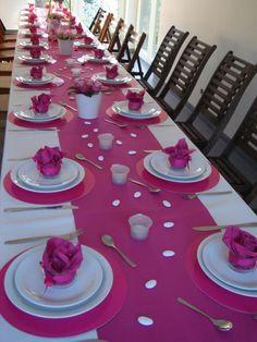 Budget Wedding Centerpieces, Diy Wedding On A Budget, Diy Centerpieces, Diy Wedding Decorations, Birthday Decorations, Table Decorations, Decoration Communion, Fuschia Wedding, Elegant Table Settings