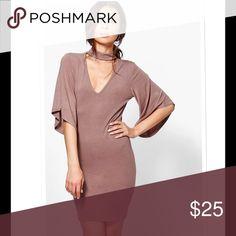 "NWT Mocha Bodycon Choker Dress Sz S Brand sold at Asos.com . Bust 30"" Waist 25"" Hips 30"" Length 32"" ASOS Dresses Mini"