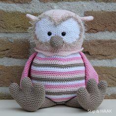 Stip & HAAK Crochet Owls, Crochet Amigurumi, Amigurumi Patterns, Amigurumi Doll, Crochet Animals, Knit Crochet, Crochet Baby Sandals, Unique Crochet, Crotchet Patterns