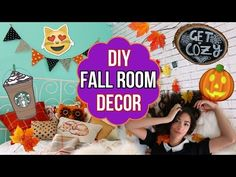 Make Your Room Cozy for Fall! ♡ Easy & Cute Fall Room Decor! - YouTube . This video was made by a teen....so the way she speaks is teenish. Once you get past that, her DIY projects are cute. I love the wood piece chalkboard and wood piece stand! Oh and the pillow is cute!