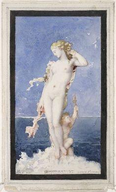 Gustave Moreau, Aphrodite, c. 1870, Harvard Art Museums/Fogg Museum.
