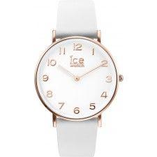Ice-Watch CT.WRG.36.L.16 City  -Edelstalen behuizing, paars - Lederen horlogeband, paars - Paarse wijzerplaat - Quartz uurwerk, werkt op batterijen