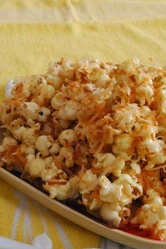 Caramel Coconut Marshmallow Popcorn