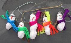 peanut snowmen ornaments