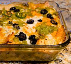 Vegan Tofu Enchiladas!  These are really good!  Instead of rolling individual enchiladas I layered mine casserole style.