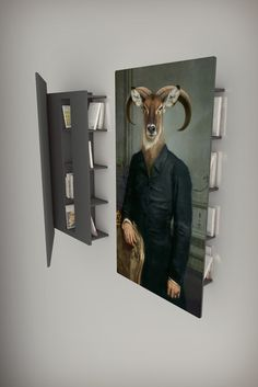 Wow! What an effect for your bookshelf.