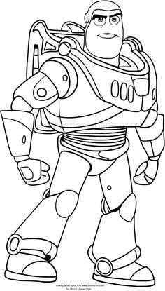 Dibujo de Buzz Lightyear de Toy Story 4 para colorear
