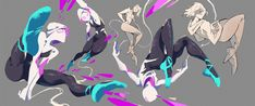 Spider Art, Spider Verse, Rayla Dragon Prince, Spiderman Poses, Marvel Spider Gwen, Tiger Artwork, Character Art, Character Design, Dc Comics Women