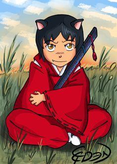My Oc for Inuyasha. Inuyasha's Son, Inu Kuraikumo.