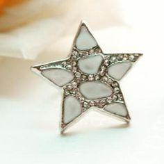 White Star Ring White - One Size