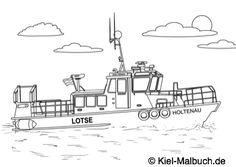 Lotsenboot Holtenau / Kiel-Malbuch.de