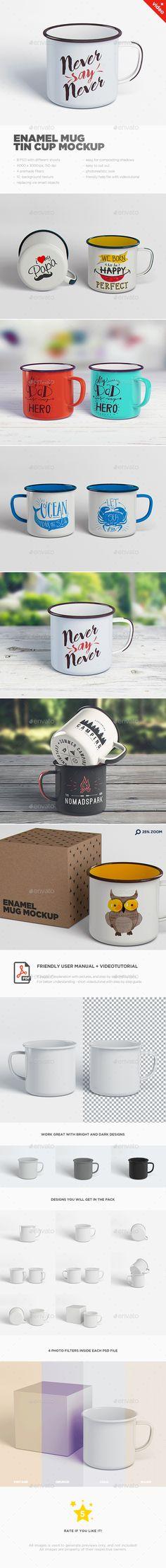 Enamel Mug / Tin Cup MockUp. Download here: http://graphicriver.net/item/enamel-mug-tin-cup-mockup/16710929?ref=ksioks