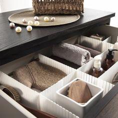 separateur tiroir meuble salle de bain
