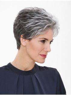 18 Short Grey Hair Cuts and Styles Hair Styles For Women Over 50, Short Hair Cuts For Women, Short Hairstyles For Women, Hairstyle Short, Style Hairstyle, Short Grey Haircuts, Pixie Haircuts, Salt And Pepper Hair, Salt Hair