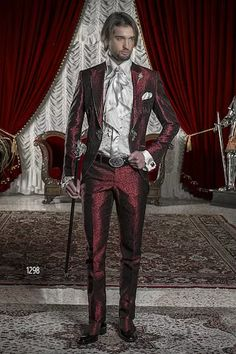 ongala 1299 br utigam anzug bordeaux aus brokat stoffen mit stickerei mode pinterest. Black Bedroom Furniture Sets. Home Design Ideas