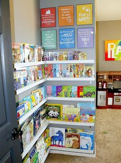Children's Library DIY #storagesolutions