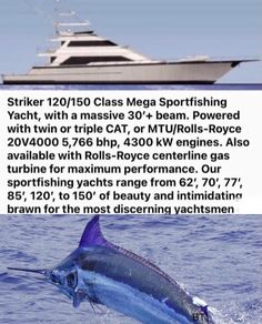 Fishing Yachts, Fishing Boats, Big Yachts, Yacht World, Yacht Builders, Gas Turbine, Private Yacht, Yacht Design, Sport Fishing