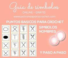 Lista de simbolos de puntos de crochet