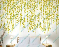Vinyl Wall Decal Nature Design Tree Wall Decals Wall stickers Nursery wall decal wall art------Flying blossom