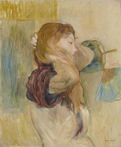 Jeune femme relevant ses cheveux - Berthe Morisot . 1894