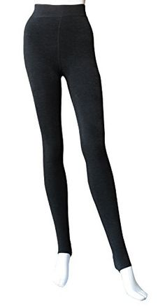 2eda24655 Women Winter Thick Warm Fluff Lined Thermal Toeless Pantyhose  TightsBlackOne  fashion  clothing  shoes