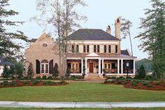 Inside and out, this classical house teems with ideas that reflect the historic charm of traditional, Southern architecture.    Square Footage: 3,816 4 Bedrooms and 4 1/2 baths  See Plan:Abberley Lane