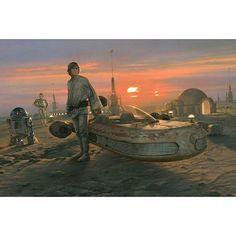 Over 30 'Star Wars Celebration' Art Show Images Unveiled Film Star Wars, Star Wars Episoden, Star Wars Poster, Star Wars Collection, Obi Wan, Star Wars Episodio Iv, Star Wars Celebration, A New Hope, Love Stars