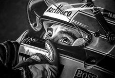 Ayrton Senna - Drawing art.