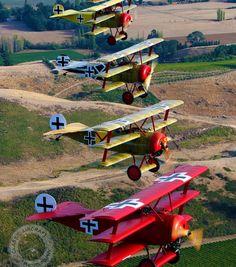 Imágenes de aviones de la Primera Guerra Mundial