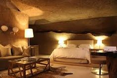 Image result for earth lodge sabi sabi Earth, Colours, Bed, Image, Furniture, Home Decor, Decoration Home, Stream Bed, Room Decor