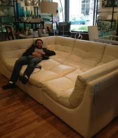 Movie Room Couch/bed, I Want This In My Basement!