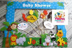 Marcos para photos | Fiestas Originales Costa Rica Baby Shower Frame, Fotos Baby Shower, Baby Boy Shower, Foto Frame, Photo Frame Prop, Photo Booth, Safari Birthday Party, 1st Boy Birthday, Candy Car