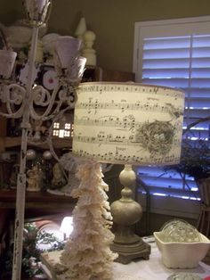 Good idea for office. Cool way to use pages of old song book