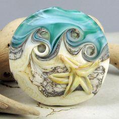 SRA Handmade Lampwork Glass Bead  Organic by StoneDesignsbySheila, $28.00