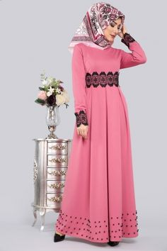 Hijab Style Dress, Hijab Outfit, Abaya Fashion, Modest Fashion, Hijabi Gowns, Muslim Dress, Muslim Women, Blouse Dress, Colorful Fashion