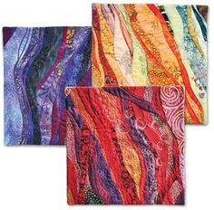 Quilts that are free form like wind or flowing water