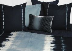 Shibori  Bedding in indigo