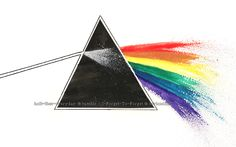 Dark Side of the Moon [Watercolour] by I-Forget-To-Forget