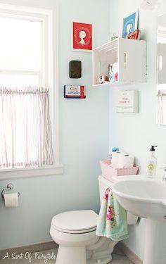 Antes de o Depois de um Banheiro estilo Vovó Mocinha {Vintage}