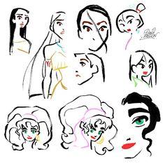 David Gilson/Pocahontas, Mulan and Esmeralda