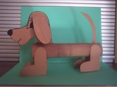 chien en carton Dog Crafts, Paper Crafts For Kids, Animal Crafts, Creative Activities, Creative Kids, Cardboard Tube Crafts, Toilet Paper Roll, After School, Spring Crafts