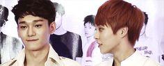 EXO Chen and sexy Xiumin THEIR SMILEE THOO<3<3 #minseok #jongdae