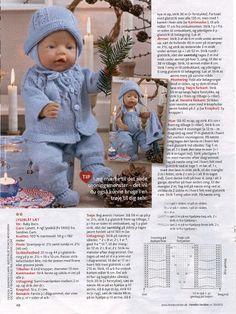 Album Archive - Dukketøj til Baby Born 2 - Ingelise Baby Cardigan Knitting Pattern Free, Baby Boy Knitting Patterns, Knitted Doll Patterns, Knitted Dolls, Baby Patterns, Knitting Dolls Clothes, Crochet Baby Clothes, Doll Clothes Patterns, Baby Born Clothes