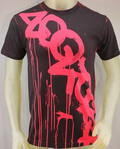 Zoo York black & red T-shirt with red graffiti dripping logo