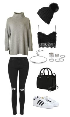 """""""Untitled #2"""" by cocojumelles on Polyvore featuring adidas, Topshop, Victoria Beckham and Monica Vinader"""