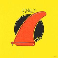 Single Fin Surf - Yellow - Website: Urban Arts // Artista: Guto Reiiz